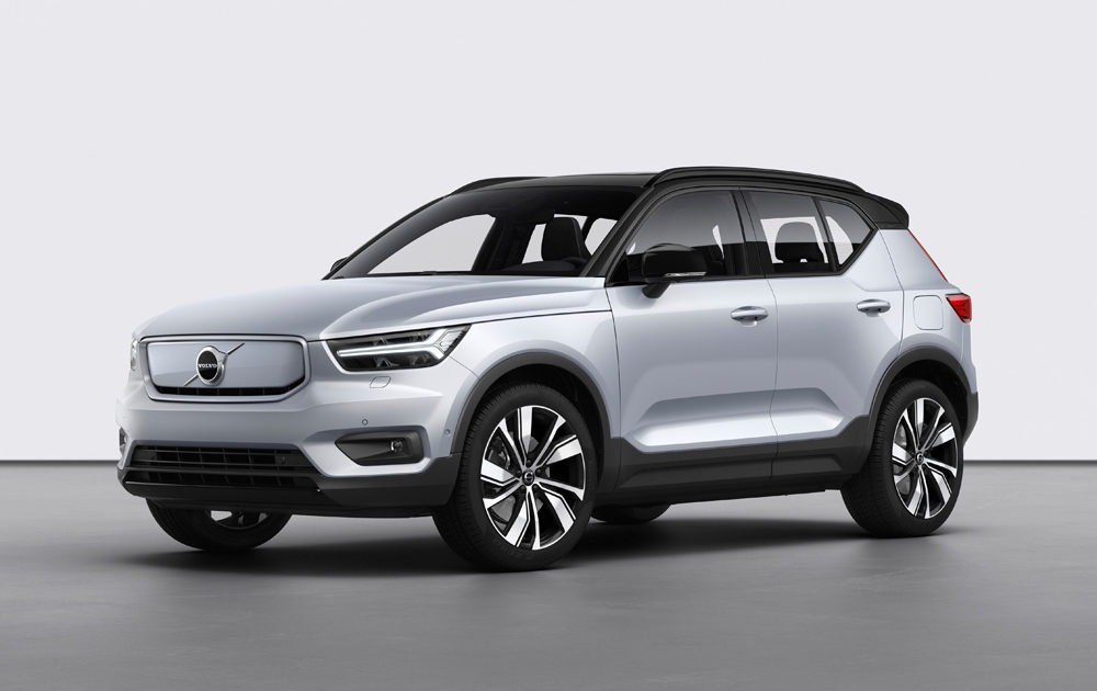 259191 Volvo Xc40 Recharge P8 Awd In Glacier Silver