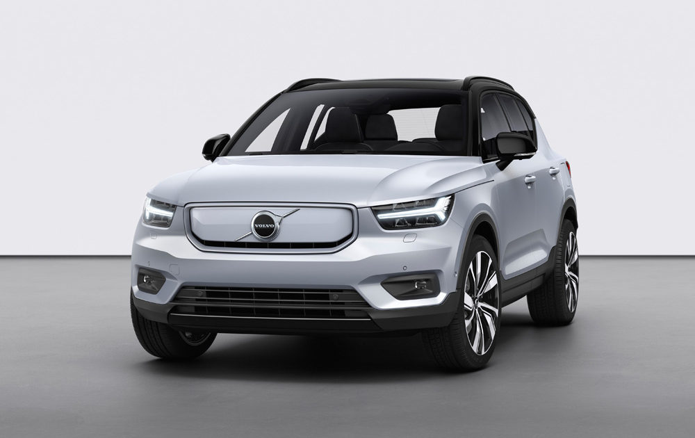 259192 Volvo Xc40 Recharge P8 Awd In Glacier Silver
