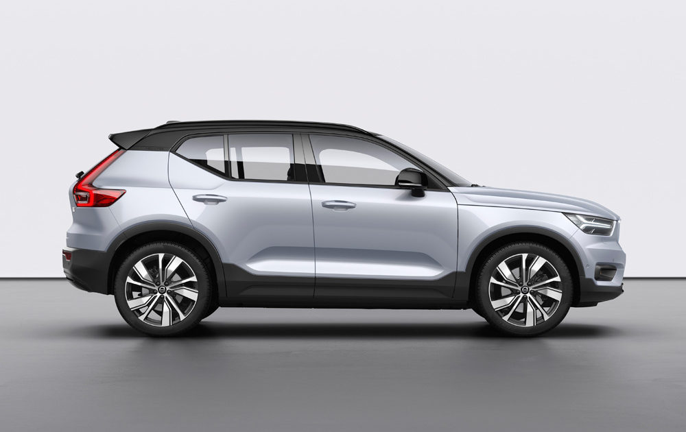 259199 Volvo Xc40 Recharge P8 Awd In Glacier Silver